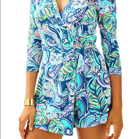 d5d3ff80eb6d Lilly Pulitzer Other - Lilly Pulitzer Karlie Wrap Romper Sz M